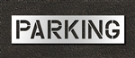 "Pavement Marking Stencils - Duro - 12 inch - PARKING - 1/16"" - STL-116-71222"