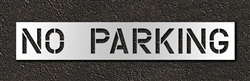 "Pavement Marking Stencils - Duro - 12 inch - NO PARKING - 1/16"" - STL-116-71232"