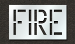"Pavement Marking Stencils - Duro - 18 inch - FIRE - 1/16"" - STL-116-71801"