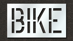 "Pavement Marking Stencils - Duro - 18 inch - BIKE - 1/16"" - STL-116-71817"