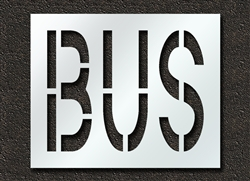"Pavement Marking Stencils - Duro - 24 inch - BUS - 1/16"" - STL-116-72415"