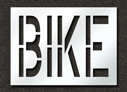 "Pavement Marking Stencils - Duro - 24 inch - BIKE - 1/16"" - STL-116-72417"