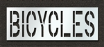 "Pavement Marking Stencils - Duro - 24 inch - BICYCLES - 1/16"" - STL-116-72418"