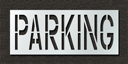 "Pavement Marking Stencils - Duro - 24 inch - PARKING - 1/16"" - STL-116-72422"