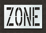 "Pavement Marking Stencils - Duro - 24 inch - ZONE - 1/16"" - STL-116-72424"