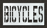 "Pavement Marking Stencils - Duro - 36 inch - BICYCLES - 1/16"" - STL-116-73618"