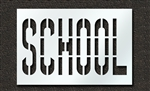 "Pavement Marking Stencils - Duro - 36 inch - SCHOOL - 1/16"" - STL-116-73623"