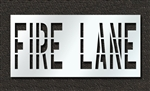 "Pavement Marking Stencils - Duro - 36 inch - FIRE LANE - 1/16"" - STL-116-73631"