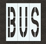 "Pavement Marking Stencils - Duro - 48 inch - BUS - 1/16"" - STL-116-74815"