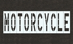 "Pavement Marking Stencils - Duro - 48 inch - MOTORCYCLE - 1/16"" - STL-116-74816"