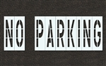 "Pavement Marking Stencils - Duro - 48 inch - NO PARKING - 1/16"" - STL-116-74832"