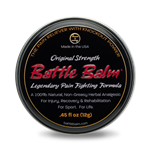 Battle Balm Original Strength 0.45 fl oz Tin All Natural & Organic Topical Pain Relief Cream For Arthritis & More
