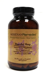 Meridian Remedies Peaceful Sleep (100 Caps)
