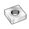 12-24  Square Machine Screw Nut Zinc [3000 pieces]