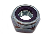 1-8  Nylon Insert Heavy Pattern Hex Nut Zinc [20 pieces]