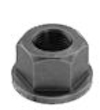 1/2-13  Serrated Flange Hex Lock Nuts Case Hardened HR15N 78/90 Black Oxide [250 pieces]