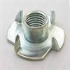 5/16-18X1/2  4 Prong Tee Nut Zinc [1000 pieces]