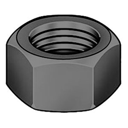 1/2-13  Coarse Thread Finished Hex Nut Grade 2 Domestic Zinc [1300 pieces]