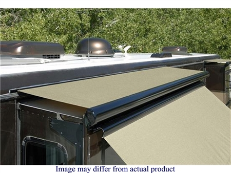 "Carefree 78""-85"" RV Slide-Out Awning SideOut Kover III with Wind Deflector - Black"