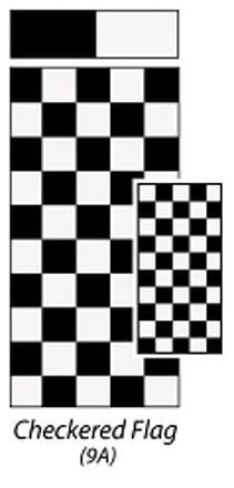 Carefree JU149A00 RV Awning Vinyl Fabric 14' - Checkered Flag With White Weatherguard