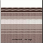 Carefree JUL148A00 RV Awning Vinyl Fabric 14' - Sierra Brown Dune Stripe With White Weatherguard