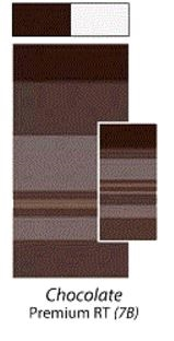 Carefree JU157B00 RV Premium Awning Vinyl Fabric 15' - Chocolate with White Weatherguard