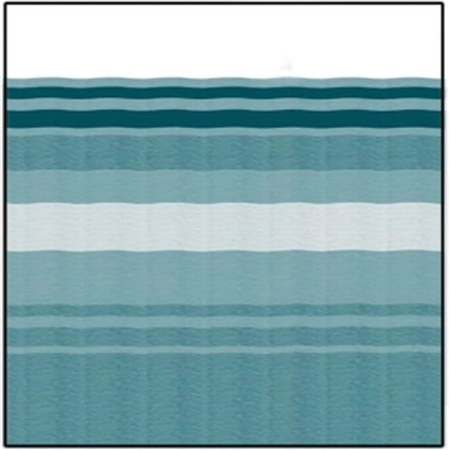 Carefree JU158C00 RV Awning Vinyl Fabric 15' - Teal Dune Stripe With White Weatherguard