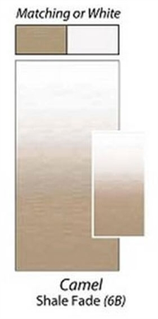 Carefree JU166B00 RV Awning Vinyl Fabric 16' - Camel Shale Fade With White Weatherguard