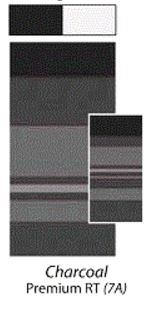 Carefree JU187A00 Premium Awning Vinyl Fabric 18' - Charcoal with White Weatherguard