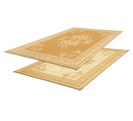 Faulkner 48450 Reversible RV Outdoor Patio Mat - Beige Monte Carlo Design- 9' x 12'