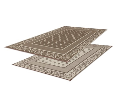 Faulkner 48695 Reversible RV Outdoor Patio Mat - Beige Vineyard Design - 6' x 9'