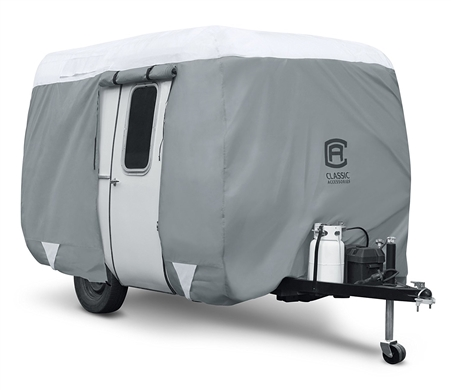 Classic Accessories 80-294-143101-RT PolyPro 3 Molded Fiberglass Travel Trailer Cover - 8'-10'