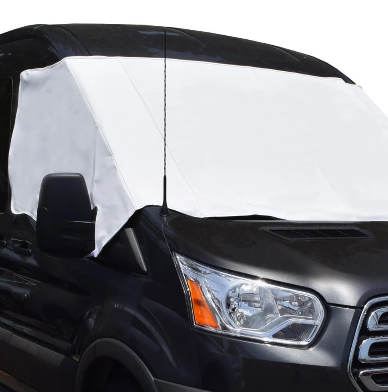 ADCO 2424 Windshield Cover For 2014-2019 Ram ProMaster Vans With Mirror  Cut-Outs
