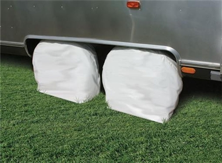 "Camco RV Tire Covers 36""-39"" - White 2Pk"