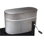 ADCO 2714 Silver Vinyl Diamond Plated Tank Cover - Double 40 lb