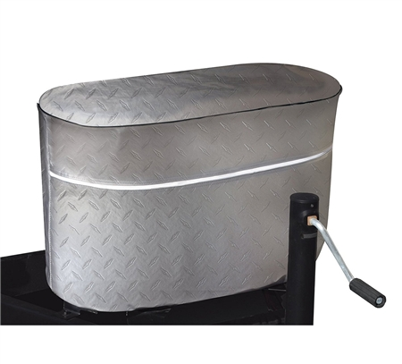 ADCO 2714 Diamond Plated Propane Tank Cover - Silver - Double 40 Lb