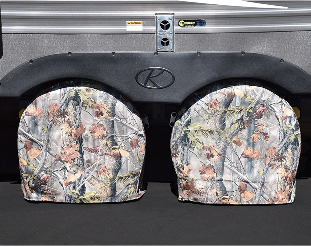 Set of 2 ADCO 3654 Camouflage #4 Game Creek Oaks Tyre Gard Wheel Cover, Fits 24-26