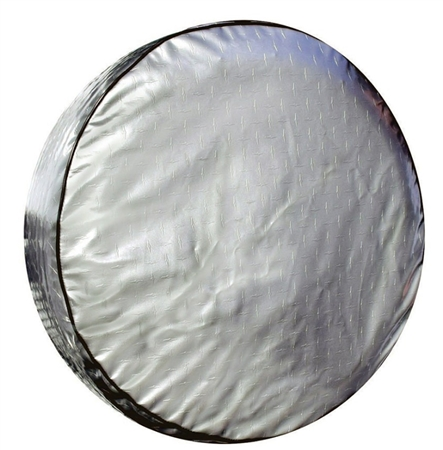 ADCO 9751 Silver Diamond Plated Spare Tire Cover A - 34""