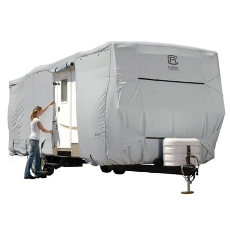 Classic Accessories 80-134-141001-00 PermaPRO Travel Trailer Cover - Model 1 - Up To 20'