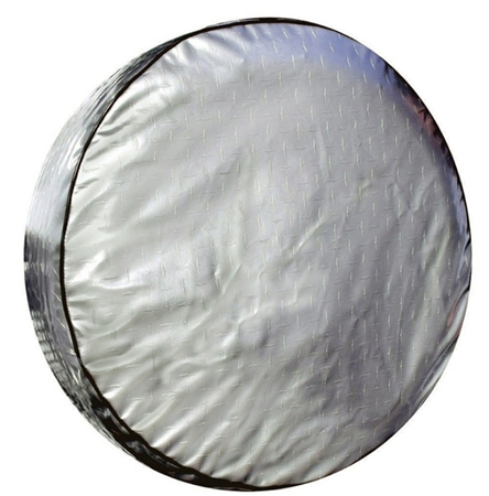 ADCO 9758 Silver Diamond Plated Spare Tire Cover L - 25-1/2""