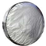 ADCO 9760 Silver Diamond Plated Spare Tire Cover O - 21 1/2""