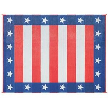 "Faulkner 36"" x 68"" Work & Play Reversible Independence Day RV Mat"