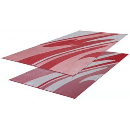 Faulkner 46363 Reversible RV Outdoor Patio Mat - Burgundy Mirage Design - 8' x 20'
