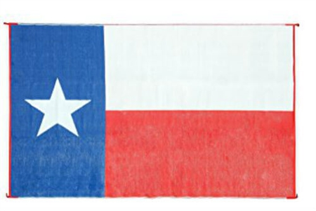 Camco 42860 Rv Reversible Outdoor Mat Texas Flag Design