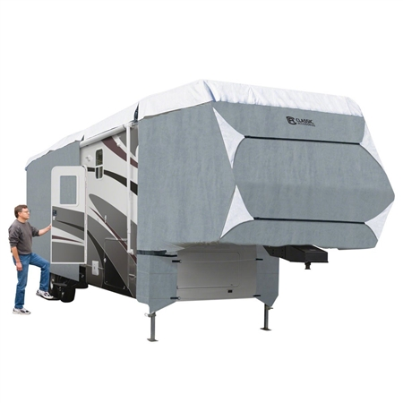 Classic Accessories 80-349-183101-RT Overdrive PolyPro 3 Deluxe Cover for 33' to 37' 5th Wheel Trailers