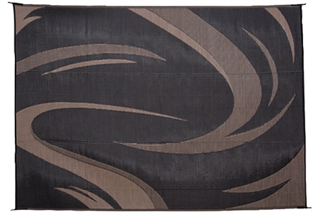 Ming S Mark Sd8181 Reversible Rv Patio Mat Black Amp Brown