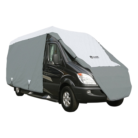 "Classic Accessories 80-395-173101-RT PolyPRO3 25'-27' MAX height 128"" Class B RV Cover"