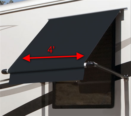 Carefree WG0404E4EB Simply Shade RV Window Awning - 4' - Black