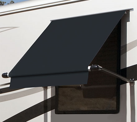 Carefree WG0454E4EB Simply Shade RV Window Awning - 4.5' - Black