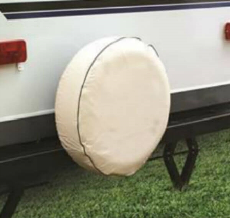 Camco 45355 Vinyl Spare Tire Cover - Colonial White - 28""